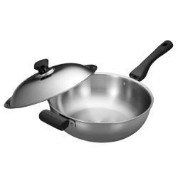SILWA 西華 極光PLUS316不鏽鋼萬用鍋30cm -單柄★買就送西華多功能九合一刨絲瀝水砧板