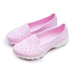 【GOODYEAR 固特異】女 排水透氣輕量美型水陸多功能休閒洞洞鞋(粉紅 82822)