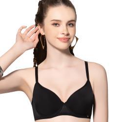 思薇爾 Simple sexy系列B-D罩素面無痕模杯包覆內衣(黑色)