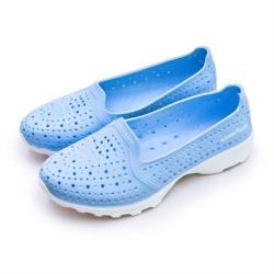 【GOODYEAR 固特異】女 排水透氣輕量美型水陸多功能休閒洞洞鞋(粉藍 82826)