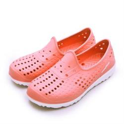 【GOODYEAR 固特異】女 排水透氣輕便水陸多功能休閒洞洞鞋(蜜桃粉 92703)
