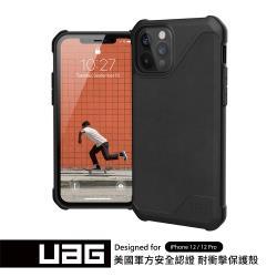 UAG iPhone 12/12 Pro 耐衝擊保護殼-極簡黑