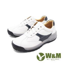 W&M(男)撞色綁帶厚底鞋休閒鞋 男鞋 -白(另有黑)