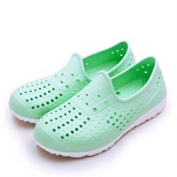 【GOODYEAR 固特異】女 排水透氣輕便水陸多功能休閒洞洞鞋(粉嫩綠 92705)