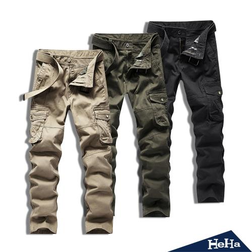 HeHa-美式軍裝大口袋休閒工裝褲