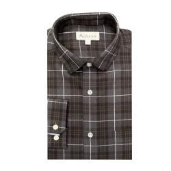 [MURANO]法蘭絨長袖襯衫-灰(M~2XL)