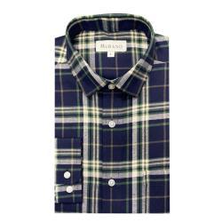 [MURANO]法蘭絨長袖襯衫-藍綠(M~2XL)