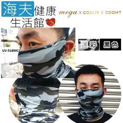 海夫健康生活館  MEGA COOUV 防曬 涼感 活性碳 面罩 2色任選2入(UV-M518)