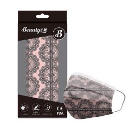 【Beauty小舖】印花3層防護口罩_魅惑蕾絲(10入/盒)- 符合CNS 14774國家檢驗標準
