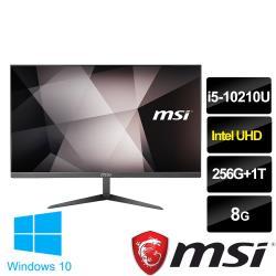 msi微星 PRO 24X 10M-205TW 23.8吋液晶電腦(i5-10210U/8G/256G+1T/WIN10)