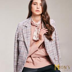 MONS 都會風簡約小香風格紋外套