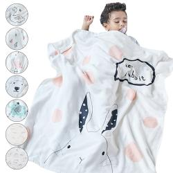 MuslinTree 純棉紗布包巾寶寶全棉蓋毯柔軟抱被吸水嬰兒浴巾