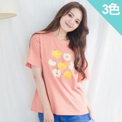 iima 水果印花棉質T-shirt(3色)
