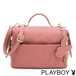 PLAYBOY-  斜背包 BUNNY QUEEN系列-玫瑰粉色