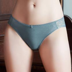 【U&Z EASY SHOP】曖昧香頌 中腰三角褲(灰霧藍)