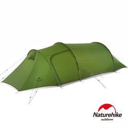 Naturehike 巴洛斯一室一廳輕量20D矽膠雙層帳篷2-3人 含地席 綠色