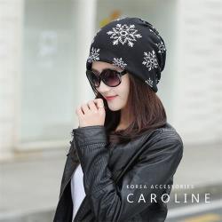 《Caroline》今年度秋冬新款時尚套頭月子帽 風采迷人雪花帽子71506