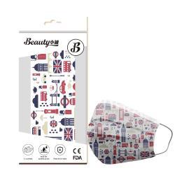【Beauty小舖】印花3層防護口罩_英倫格調(10入/盒)- 符合CNS 14774國家檢驗標準