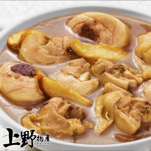 【上野物產】鮑魚風味麻油雞(1200g±10%/包)x1包/