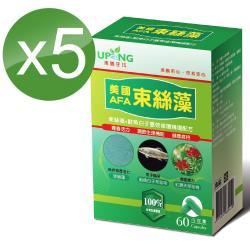 【湧鵬生技】美國AFA束絲藻5入組(束絲藻;鮭魚白子蛋白;60顆/盒;共300顆)