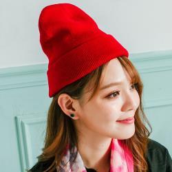 imaco 韓版時尚保暖針織帽(紅)