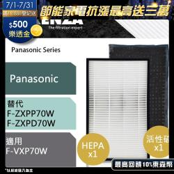 RENZA瑞薩濾網 適用Panasonic F-VXP70W F-VXL70W 可替換F-ZXPP70W F-ZXPD70W 空氣清淨機濾芯 耗材