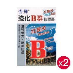 杏輝 強化B群軟膠囊 (60顆/盒)x2盒
