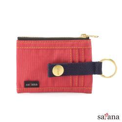 【satana】Soldier 繽紛卡片夾/零錢包-洛可可紅