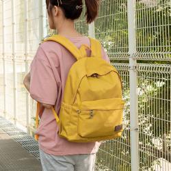 J II 後背包-經典水洗大容量後背包-黃色-6388-18(小款)