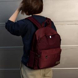 J II 後背包-經典水洗大容量後背包-酒紅色-6388-7(小款)