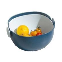 日本熱銷 雙層雙色瀝水籃 小款 (顏色隨機)