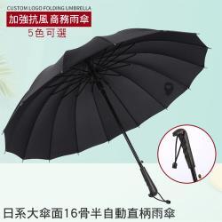 CS22 日系大傘面16骨半自動直柄傘-5色選擇