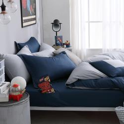 【 好關係 HAOKUANXI 】銀河夜空-新天絲棉床邊口袋床包枕套組-雙人