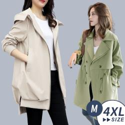 【LANNI 藍尼】時尚休閒風衣外套-四款任選(中長版外套/風衣/薄外套)