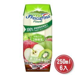 美式賣場 嘉紛娜 100% 多酚蘋果奇異果汁 250毫升 X 6入