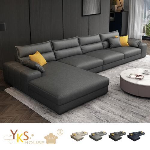 YKS 傑尼斯L型布沙發-獨立筒版(四色可選)
