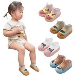 【3雙入】ROBIBABI嬰兒學步鞋防滑童襪 皮底地板船襪