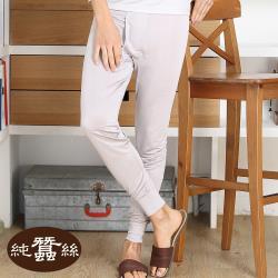 【岱妮蠶絲】純蠶絲男衛生長褲1M09902-銀灰(BMCAAA90)