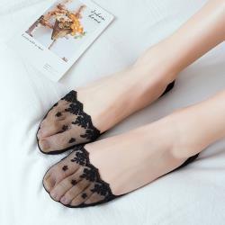 CS22 日系蕾絲花邊淺口隱形襪-6雙組-W-02