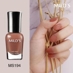 《MILDS曼思》水性可剝指甲油─茶橘果凍MS194