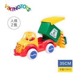 【瑞典 Viking toys】Jumbo 資源怪手回收車-28cm 81513