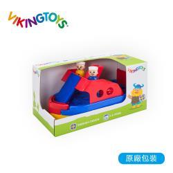 【瑞典 Viking toys】Jumbo 快艇停車場(含兩隻人偶與車車)-30cm 81098
