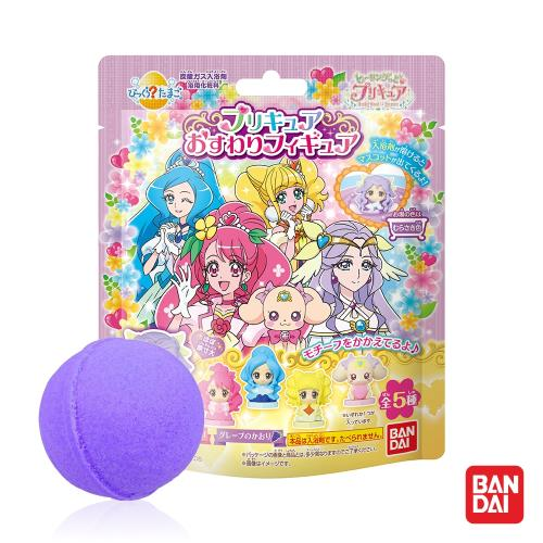日本Bandai-元氣魔法光之美少女入浴球Ⅲx5-內附公仔