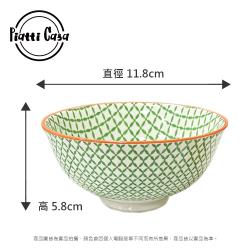 【Piatti Casa】歐式彩繪 陶瓷飯碗 11.8公分(青青玉葉)
