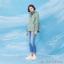 GIORDANO 女裝素色輕薄連帽外套 (多色任選)-熱銷款