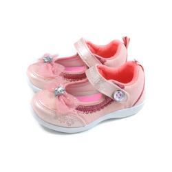 冰雪奇緣 Elsa Anna 休閒鞋 娃娃鞋 魔鬼氈 粉橘色 中童 童鞋 FNKP04833 no733