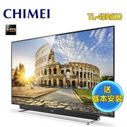 CHIMEI 奇美 43型大4K HDR智慧聯網液晶顯示器+視訊盒TL-43R600