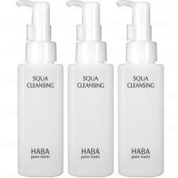 HABA 無添加主義 角鯊豐潤卸妝精華油(120ml)*3