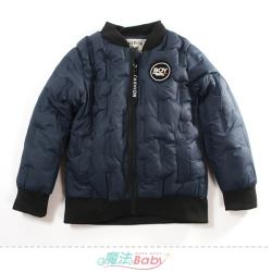 魔法Baby 中大男童外套 冬季厚鋪棉極暖飛行夾克~k61302