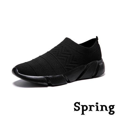 【SPRING】個性幾何飛織圖騰舒適情侶款個性休閒鞋